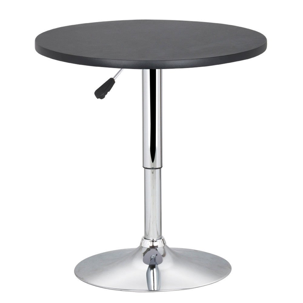 New Round Modern Swivel Counter Height Table Adjustable Pub Bistro Bar Cafe Tables Indoor by Desks & Tables