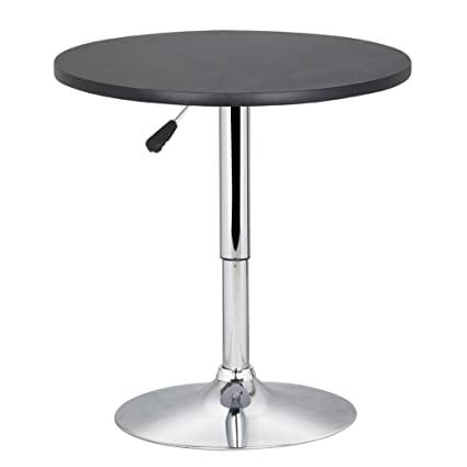 NEW Round Modern Swivel Counter Height Table Adjustable Pub Bistro Bar Cafe  Tables Indoor