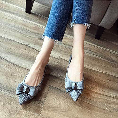 UE de Suela Embarazada FLYRCX Mujer 41 de EU Trabajo señaló Zapatos Suaves 40 Planos Zapatos Baja Zapatos Temperamento Dulce Boca Zapatos Arco Elegante AfAaR