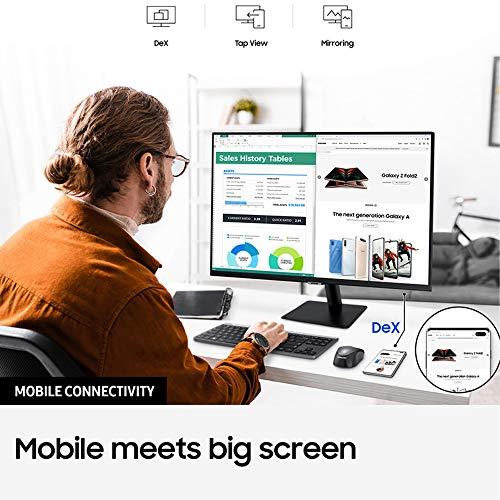 Samsung Smart M5 de 27 pulgadas LS27AM502NUXEN con Tecnología Full HD (1920x1080), Altavoces, Conectividad Móvil, Mando…