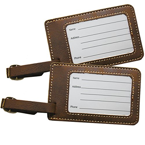 Mr and Mrs His and Hers Couples Luggage Travel Tags for Bags - Gift Set of 2 (Mr and Mrs Rawhide) by My Personal Memories (Image #2)