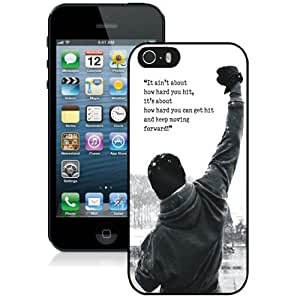 Beautiful And Unique Designed Case For iPhone 5 With Rocky Balboa Motivational Words Phone Case