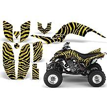 CreatorX Yamaha Raptor 660 Graphics Kit Decals Stickers Zebra Camo Yellow