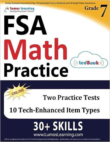 Florida Standards Assessments Prep: 7th Grade Math Practice Workbook ...