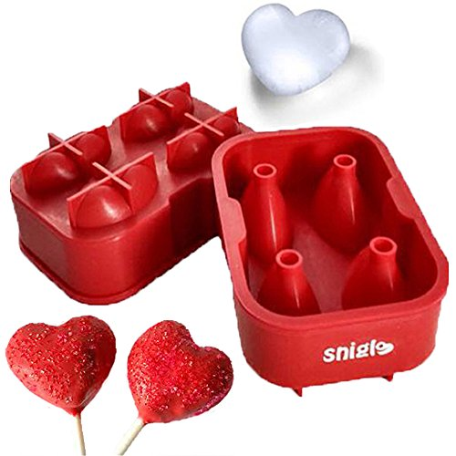 Chocolate Molds, 5CM 3D Heart Maker Candy Molds...