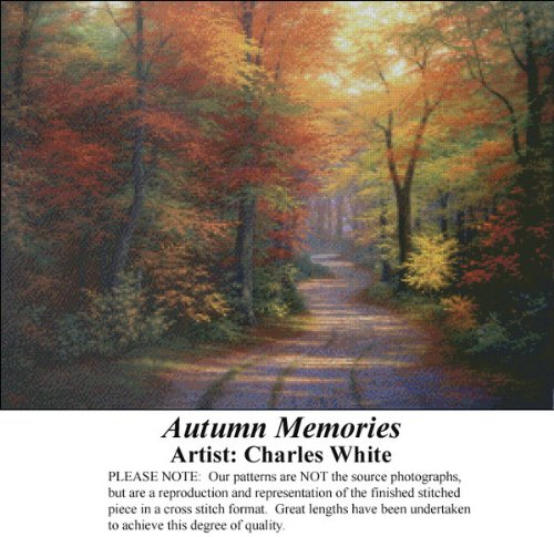 Autumn Memories, Charles White Counted Cross Stitch Pattern (Pattern Only, You Provide the Floss and Fabric)