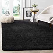 Safavieh Milan Shag Collection SG180-9090 Black Area Rug (4 x 6)
