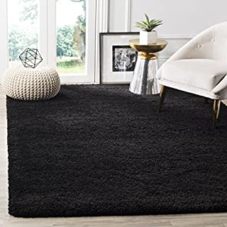 "Safavieh Milan Shag Collection SG180-9090 Black Area Rug (5'1"" x 8') (B01GS3POSA) 