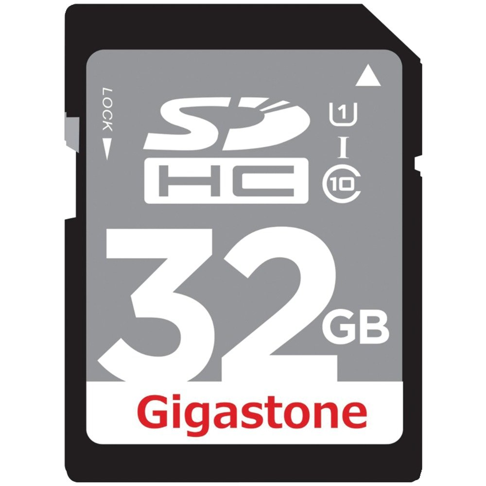 GIGASTONE GS-SDHCU132G-R Class 10 UHS-1 Card (SDHC(TM); 32GB) Computers, Electronics, Office Supplies, Computing by Gigastone