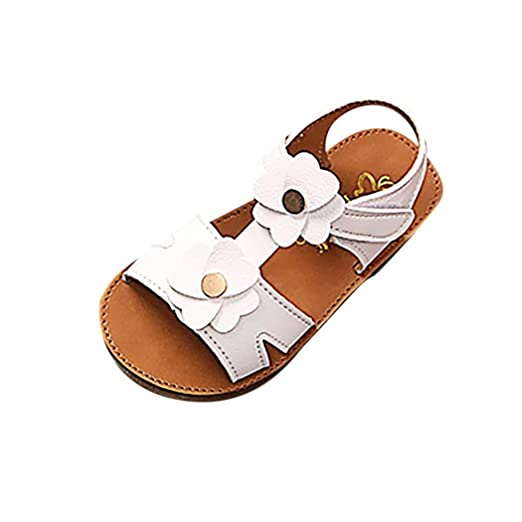 b9945aed1265a1 KONFA Teen Toddler Baby Girls Summer Solid Flowers Open-Toe Sandals