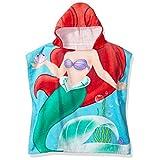 """Disney Poncho y paño con capucha para usarse en el baño y en la playa de la princesa Ariel de 22"""" (56 cm) x 22'' (56 cm)."""