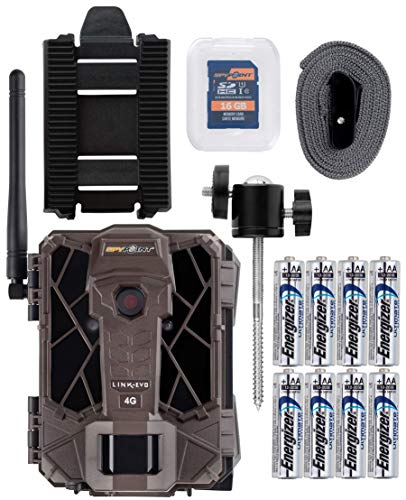 Spypoint Link-Evo Cellular Trail Camera with Batteries, SD Card, and Mount (Verizon)