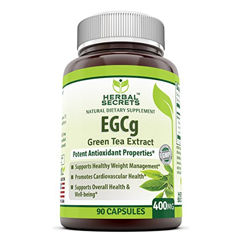 - Herbal Secrets Green Tea Extract Supplement with EGCG for Weight Loss 400 Mg 90 Capsules - Natural Source of Energy that supports cardiovascular health*