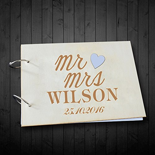 Personalized Mr and Mrs Name and Date Photo Albums Wedding Scrapbook Guest Book Wedding Gifts for Bride and Groom