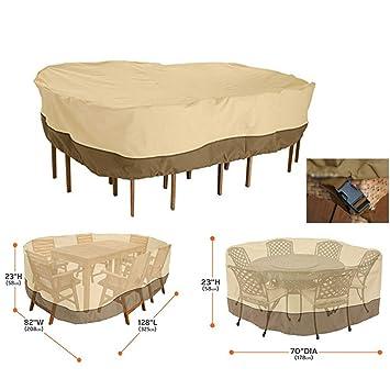 JIANFEI Housse Protection Salon De Jardin Table Ronde Chaise ...