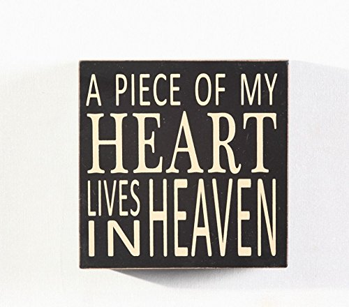 Heart Lenox (A Piece Of My Heart Lives in Heaven Wood Box Sign 5.75