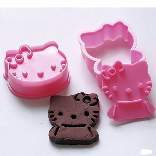 Hello Kitty Plunger Cookie Cutter 2 Pc Pink (Hello Kitty Cookie Cutter)