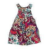 Goodlock Toddler Kids Fashion Dress Baby Girls Flower Bohemian Princess Dress Beach Sundress Clothes (Green, Size:5T)