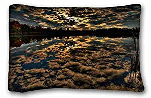 "Soft Pillow Case Cover Nature DIY Pillow Cover Size 20""X30"" suitable for Full-bed"