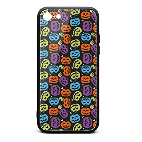 Halloween Pumpkin Faces Phone Case for iPhone 7, iPhone 8, Slim Protection Art Line Design Cell Phone Protective Case -