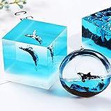 Woohome 20 PCS 3D Mini Jellyfish Mini Whale Resin