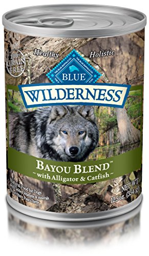 Blue Wilderness Grain Free Bayou Blend With Alligator Catfish Wet Dog Food 12.5-Oz Pack Of 12