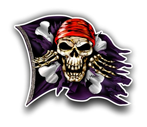 jolly roger car window decal - 4