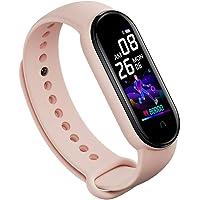 Pulsera inteligente con Bluetooth, monitor de frecuencia cardíaca, presión arterial, monitor de sueño, impermeable, con…