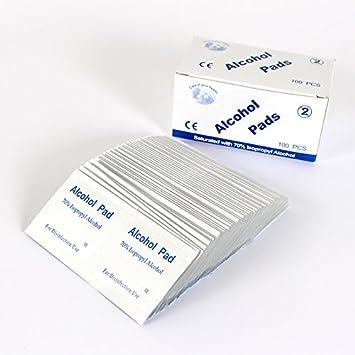 CWAIXX Cojines de algodón desinfectante de alcohol médico desechable de esterilización esterilización servilleta sanitaria Toallitas de