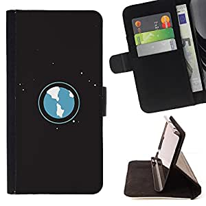 DEVIL CASE - FOR LG G3 - Art Planet Earth Atmosphere Universe Space Stars - Style PU Leather Case Wallet Flip Stand Flap Closure Cover