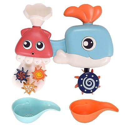 ebera 3pcs Toddlers Bath Toys Cartoon Bathtub Toy Bath Water Toy,Children Bathing Spraying Play Water Toys Children Bathing Sprayer: Home & Kitchen