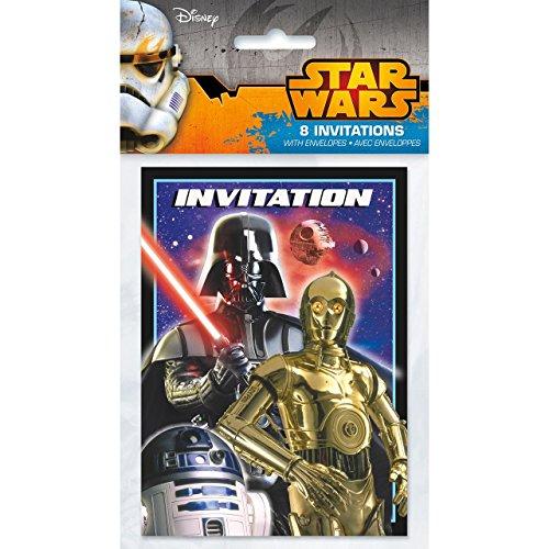 Star Wars Invitations [8 Per Pack] -