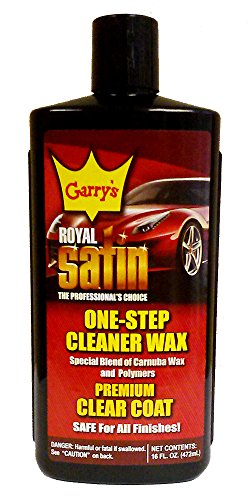 Garry's Royal Satin Automotive One-Step Cleaner wax (16 oz.) Direct from Harvey Westbury Corp. (Royal Satin Cleaner Wax)