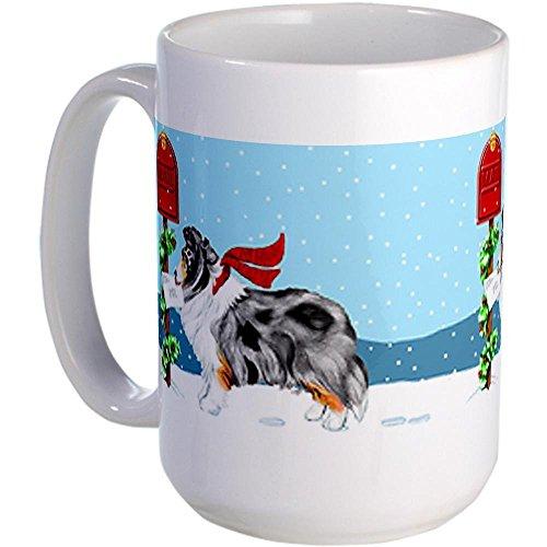 (11 ounce Blue Merle Sheltie Mail Large Mug Large Mug - Standard 12.95