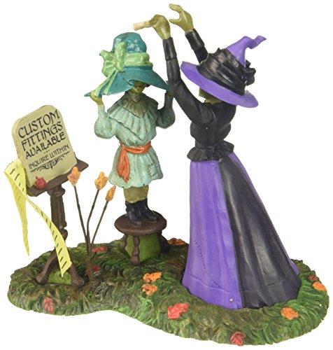 Department 56 Snow Village Halloween Hattie's Hats Custom Fitted Accessory Figurine -
