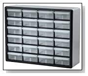 Black/Grey Plastic Parts Storage Drawers