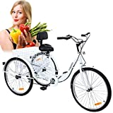 Iglobalbuy 6-Speed Adult Tricycle 24-Inch