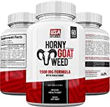 Horny Goat Weed by USA SUPPLEMENTS | Maca & Tongkat Ali for Men and Women | Enhancement Supplement Aid | Testosterone Booster Pills | 100% Natural Herbs Made in the USA