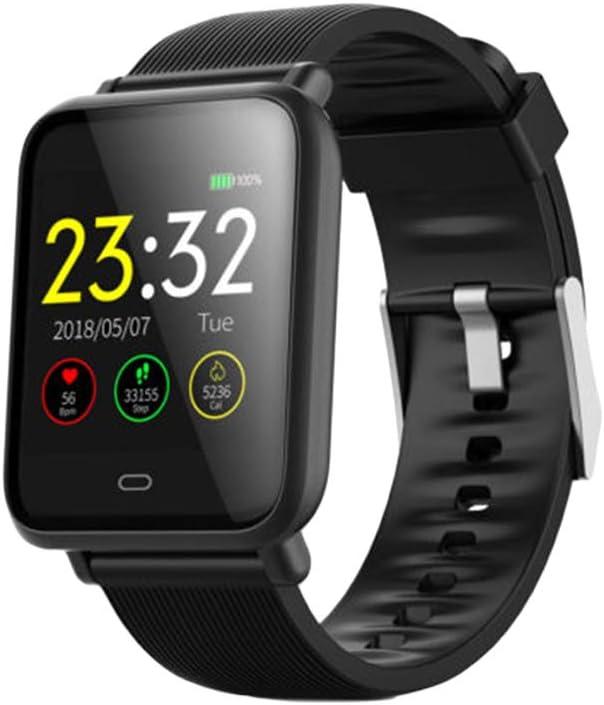 UKCOCO Q9 Smart Watch Band, IP67 Life Monitor de presión Arterial Impermeable Pantalla a Color Deporte Fitness Pulsera Reloj de Pulsera Inteligente Compatible con iOS Android Phone (Negro)