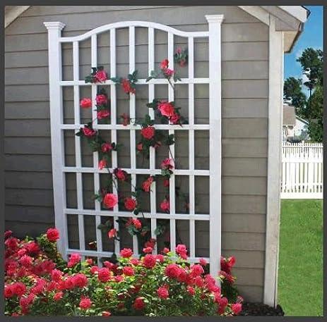 amazon com grande 54w x 90h vinyl trellis trellises garden