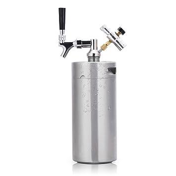 HAVEGET MINI máquina de cerveza barril aire presión grifo de cerveza, Tirador de cerveza Dispensador Doméstico de Cerveza (3.6L): Amazon.es