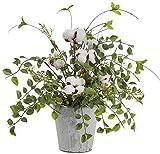RAZ Imports Cotton Boll Arrangement in Pot