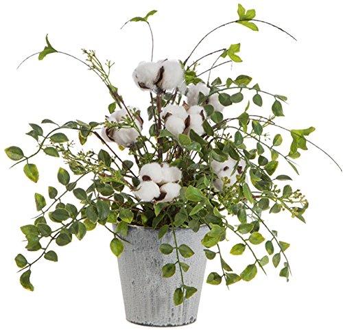 RAZ Imports Cotton Boll Arrangement in Pot by RAZ Imports