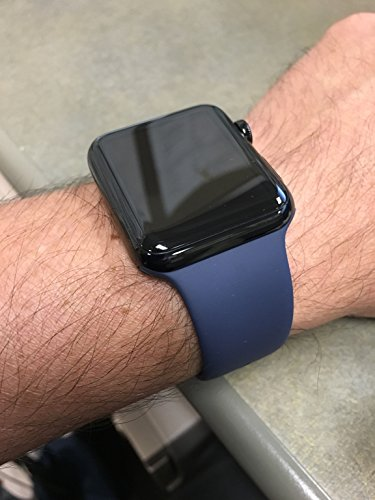 Yimzen-Soft-Silicone-Sport-iWatch-Band-Strap-for-Apple-Watch-Series-3-2-1-Sport-and-Edition-42mm-MediumLarge-Midnight-Blue