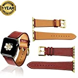Apple Watch Band 42mm 38mm Genuine Calf Leather iWatch Sport Series 1 Series 2 Strap for Women Men