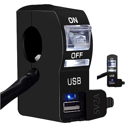 Cargador USB eléctrico para motocicleta con interruptor ...
