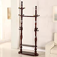 Coat rack / solid wood landing European creative bedroom assembly multi-functional simple modern household hanging racks style ( Color : Mahogany color , Style : 3 )