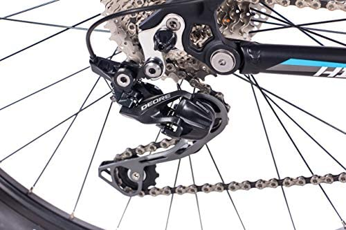 Chrisson Fully Hitter FSF - Bicicleta de montaña (29 pulgadas, suspensión completa, cambio Shimano Deore de 30 velocidades, horquilla Rock Shox), color gris y azul: Amazon.es: Deportes y aire libre