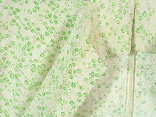 リサイクル小紋 / 正絹薄クリーム地単衣小紋着物 / レディース【裄Mサイズ】(普段着 中古小紋 リサイクル 小紋 リサイクル着物 )【ランクC】