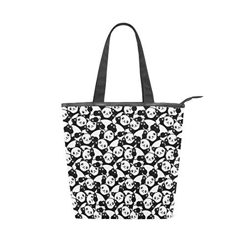 MyDaily Tote Canvas Shoulder Bag Cute Panda Cartoon Womens Handbag